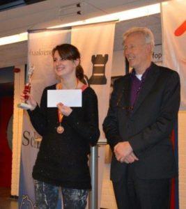 Karin Pruijssers met sponsor