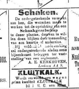 Oproep in Apeldoornsche Courant